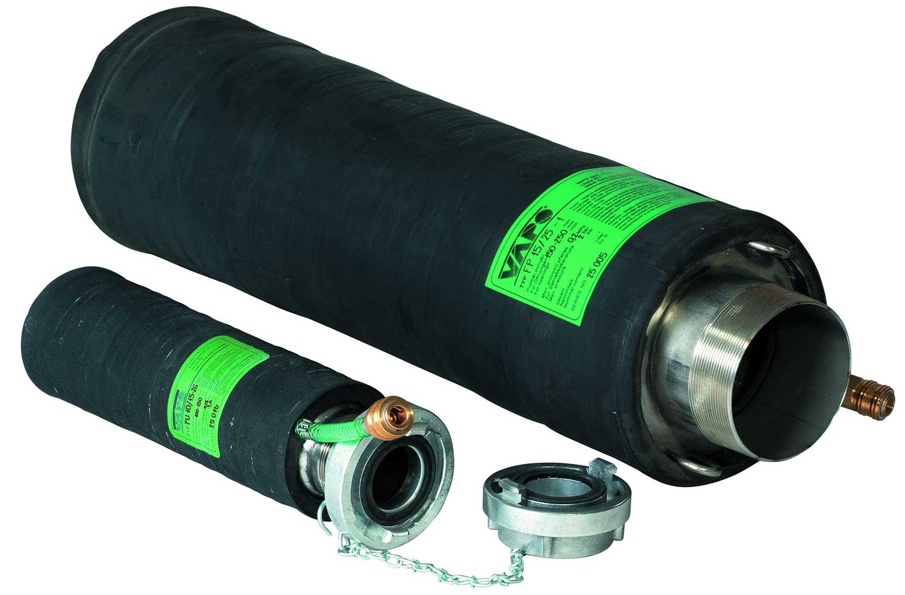 Durchfluss-Rohrdichtkissen PU-G mit Bypass für hohe Durchflussmengen von 100 - 1200 mm
