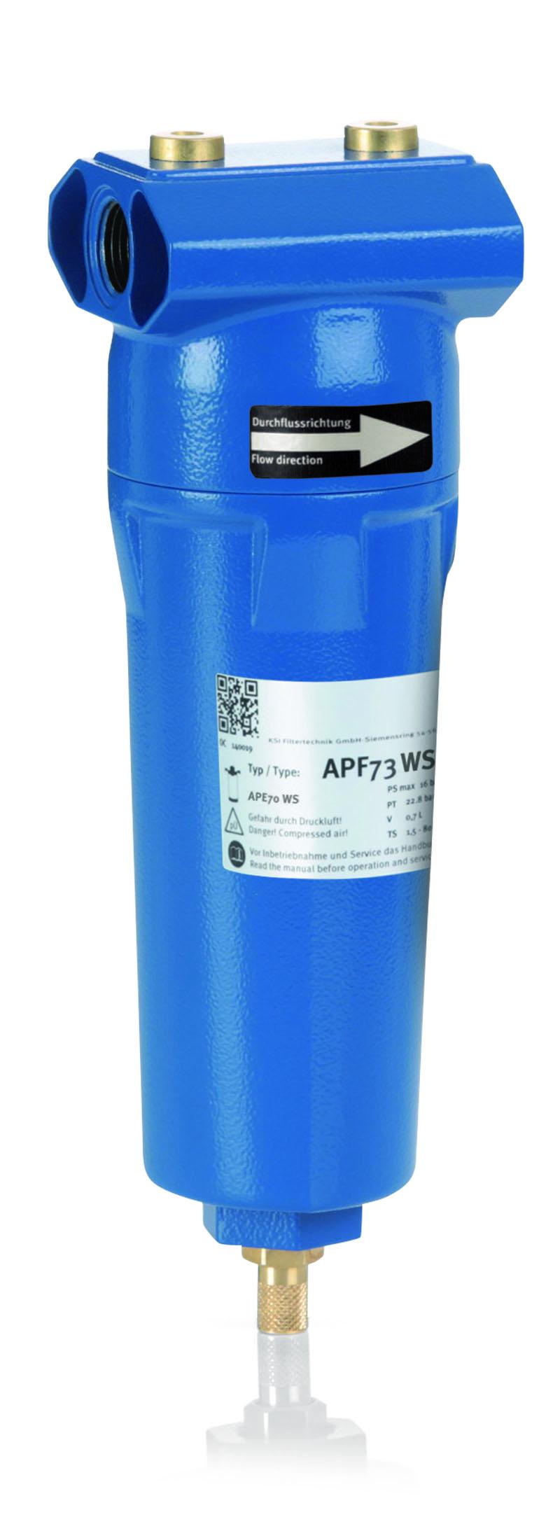 KSI Filtertechnik Wasserabscheider mit Gewindeanschluss