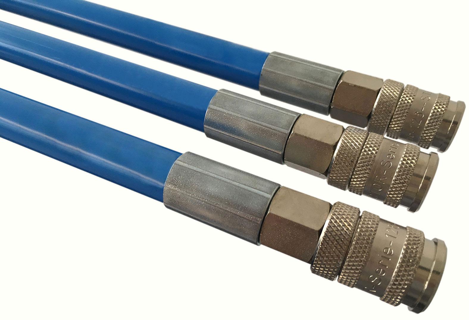 Schiebestange blau mit Sechskantkupplung