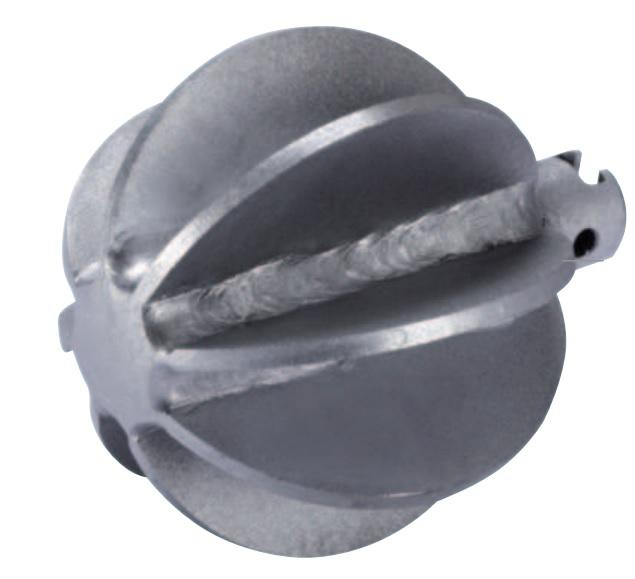 Kugelkopffräser 16 - 32 mm, Ø 25 - 115 mm, Arbeitsbereich 50 - 155 mm