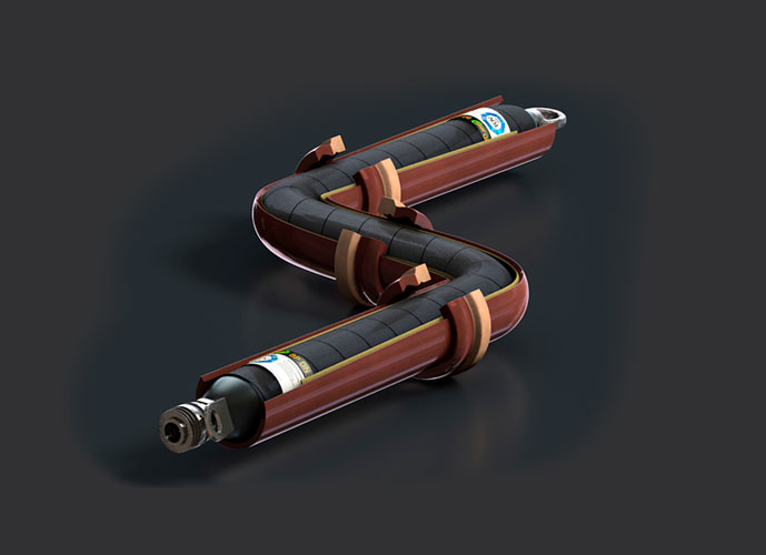 HD Bogenpacker mit NW 40-230 mm, Länge 350-1300 mm