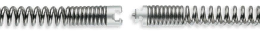 Spirale gehärtet 16 - 32 mm, bis 4,5 m, mit Nut-Stift-Kupplung