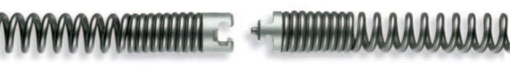 Spirale 16 - 32 mm, bis 4,5 m, mit Nut-Stift-Kupplung