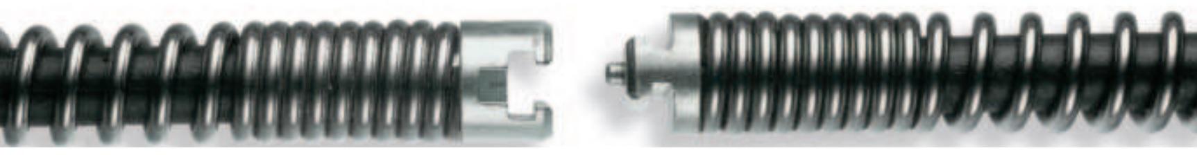 Spirale mit Seele (Kern) 16 - 32 mm, bis 4,5 m Länge, mit Nut-Stift-Kupplung