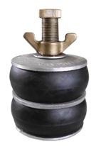 Absperrscheiben mit 2 Dichtringen, Aluminium-Ausführung, DN 40 - 400